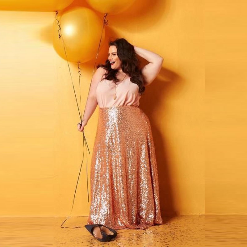 <font><b>Rose</b></font> <font><b>Gold</b></font> Sequin <font><b>Skirts</b></font> Plus Size Floor Length Long Maxi <font><b>Skirts</b></font> Womens Shiny Sequins Pencil <font><b>Skirt</b></font> Custom Made Any Size Free image