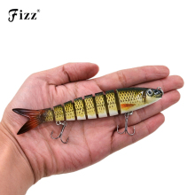 Купить с кэшбэком 13.6cm 18.7g 8 Segments Swimbait Fishing Lures Hook Wobbler Isca Artificial Para Pesca Leurre Peche Hard Bait jig Carp Fishing