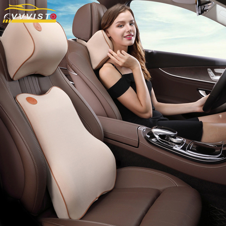 2018 VVVIST New Car Headrest Pillow Neck Pillow Waist Comfortable Universal Single Headrest For Most Car Filling Fibers Soft