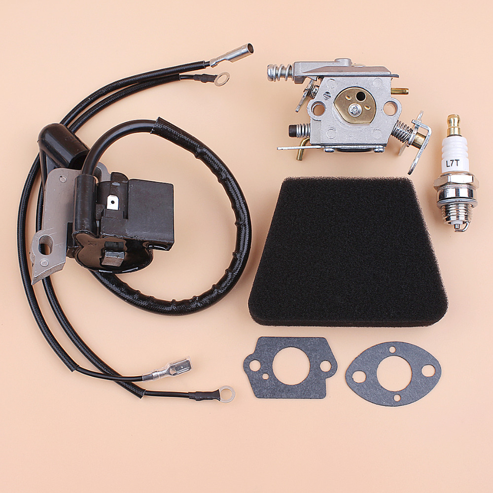 370 351 29 Coil 371 Walbro Air Kit Module Spark Chainsaw 420 Partner 350 Parts Ignition Carburetor Fit Plug Filter 33 Carb