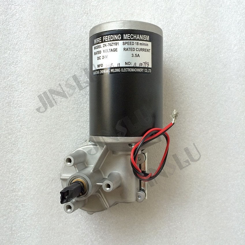 76ZY01 Mig Wire Feeder Motor DC24 1.8-18m/Min 0.8-1.0mm Roll Without Bracket mig mag welding machine welder wire feeder motor 60zy01 dc24 0 6 0 8mm 1 8 18m min 1pk