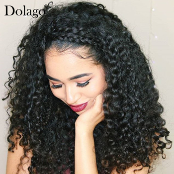 13x6 Lace Front Human Hair Wigs For Women 150% Density Deep Curly Brazilian Lace Frontal Wig Glueless Dolago Black Full End Remy