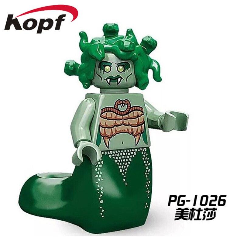 50Pcs PG1026 Super Heroes Medusa Marvel Inhumans Royal Family Bricks Educational Action Model Collection Children Gift DIY Toys