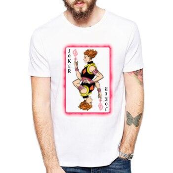 헌터 x 헌터 포커 디자인 남성 티셔츠 캐주얼 인쇄 남성 쿨 탑스 hipster 스타일 반소매 캐주얼 티셔츠