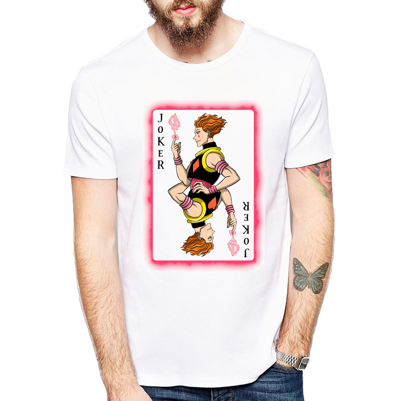 Hunter X Hunter Poker design Men t-shirt Casual printed male cool tops hipster style short sleeve casual tee shirts