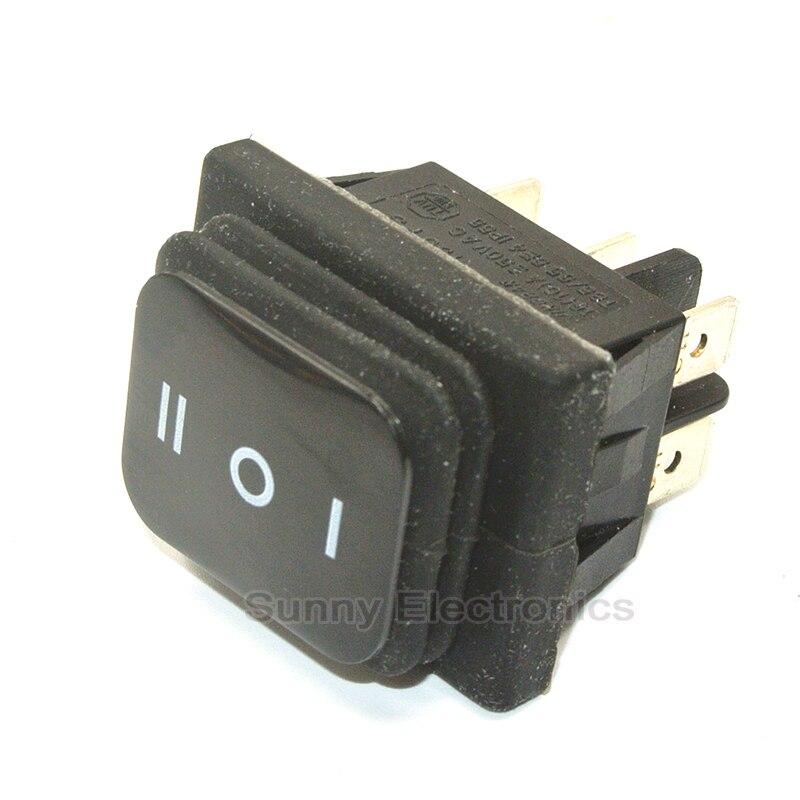 1Pcs Black Good Quality  Waterproof IP65 Rocker Switch DPDT (ON-OFF-ON) IP65 Rated Boat Car Rocker Switch 30 pcs black on off dpdt rocker switch kcd3 6 terminal