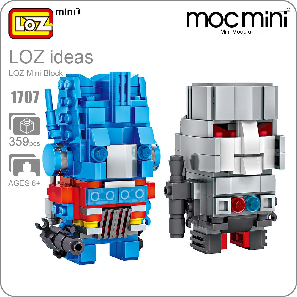 LOZ Mini Blocks Action Figure Toy Building Blocks Superheroes Toy LOZ Robot Kawaii Hero Factory Moc Plastic Granules Gift 1707 loz mini blocks batman robin ironman thor loki harley quinn poison mini super hero bricks diy building blocks toys gift