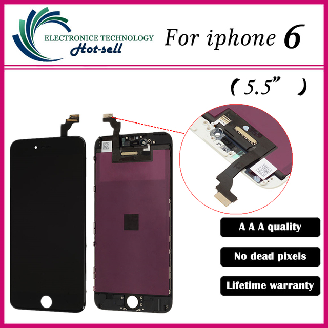 5PCS Grade AAA 5.5 inch LCD For iPhone 6 Plus Display Touch Screen With Digitizer Replacement Assembly Parts Free Ship