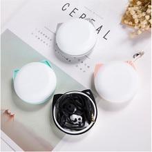 Cute cat claw headphones in-ear girl universal mobile phone headset with wheat creative Korean mini call