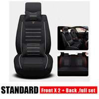 Universal Flax Car Seat Covers for Audi A6L R8 Q3 Q5 Q7 S4 RS Quattro A1 A2 A3 A4 A5 A6 A7 A8 Auto Accessories Car Stickers