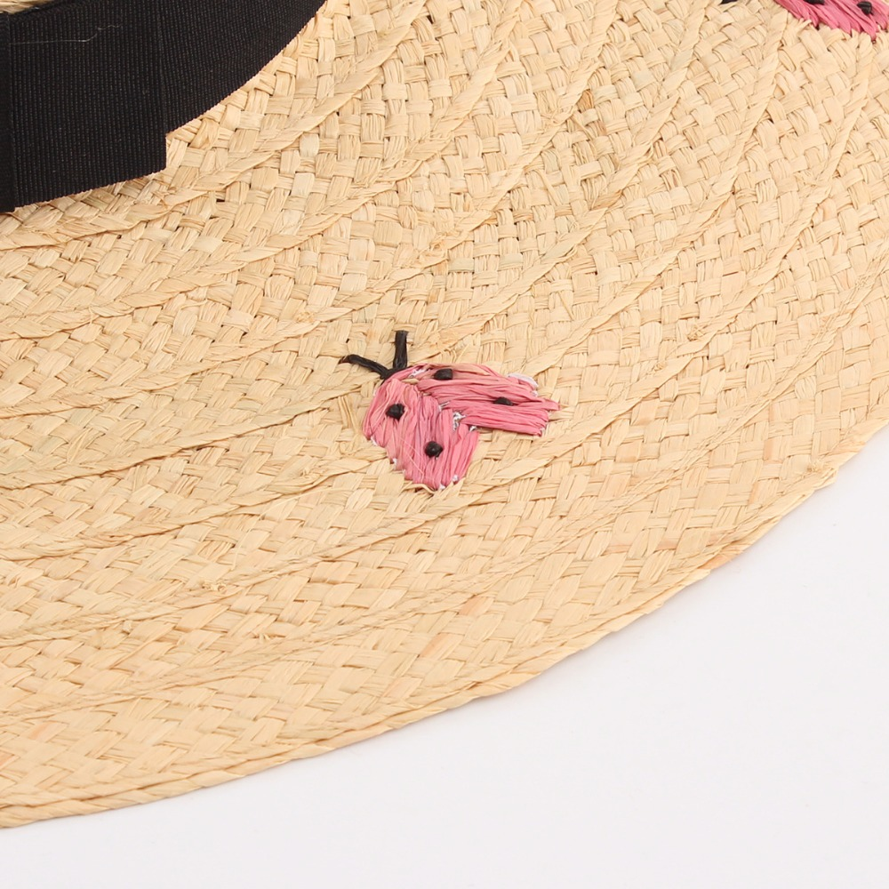 Aliexpress : Buy Women Summer Large Brim Beach Hat Fashion Letter  Ladybug Embroidery Straw Hats Raffia Sombreros From Reliable Beach Hat  Suppliers On 2