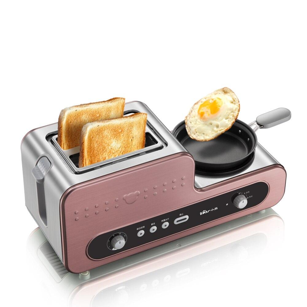 220V Multifunctional Electric Breakfast Toaster Machine With Egg Boiler Frying Pan Automatic Toaster Machine EU/AU/UK Plug Тостер