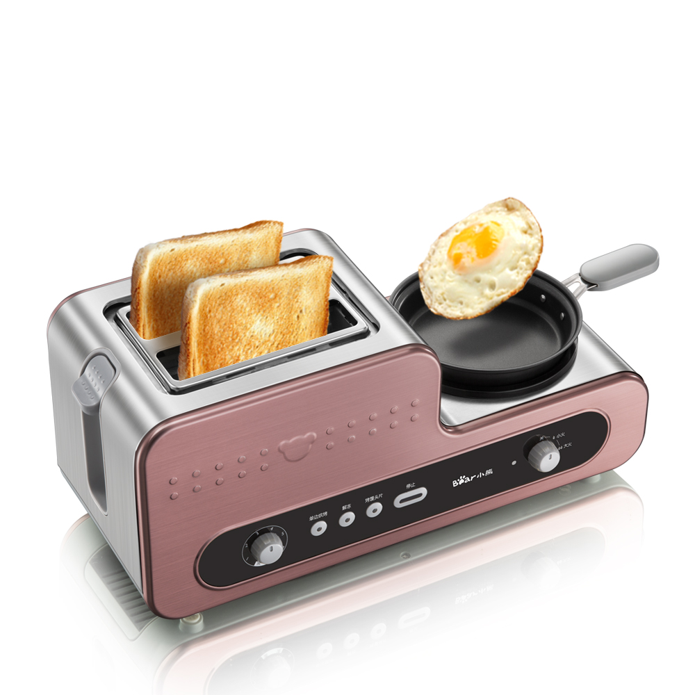 220V Multifunctional Electric Breakfast Toaster Machine With Egg Boiler Frying Pan Automatic Toaster Machine EU/AU/UK Plug innovative owl shape silicone egg frying mould frying pancake mold breakfast mould creative kitchen supplies for diy present