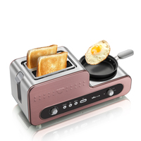 220V Multifunctional Electric Breakfast Toaster Machine With Egg Boiler Frying Pan Automatic Toaster Machine EU/AU/UK Plug