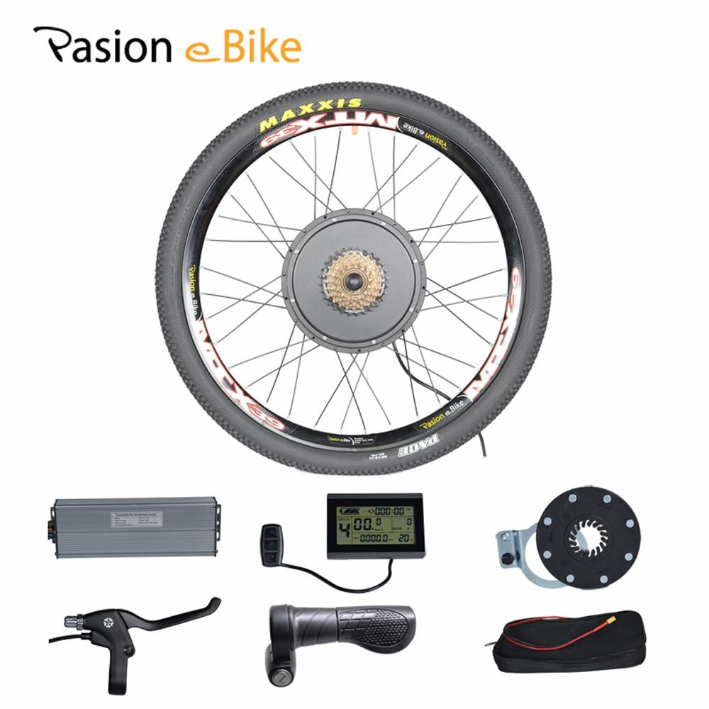 "PASION E BIKE 48V 1500W Motor Electric Bike Kit Electric Bicycle Conversion Kits for 20"" 24"" 26"" 700C 28"" 29"" Rear Wheel Fiets"