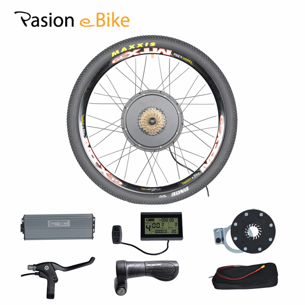 "PASION E <font><b>BIKE</b></font> 48V 1500W Motor Bicicleta <font><b>Electric</b></font> Bicycle eBike Conversion Kits for 20\"" 24\"" 26\"" 700C 28\"" 29\"" Rear Wheel"