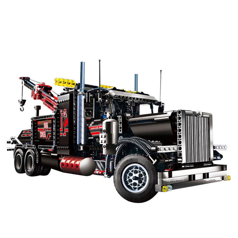 the 20020 the Technic Mechanical Ultimate The American Style Heavy Container Trucks Set 8285 Building Blcoks