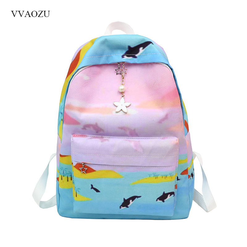 Japanese Lolita Girls Cute Backpack Trendy Designer Cartoon Underwater World Animal Funny Bag Girls Bookbag Mochila FemininaJapanese Lolita Girls Cute Backpack Trendy Designer Cartoon Underwater World Animal Funny Bag Girls Bookbag Mochila Feminina