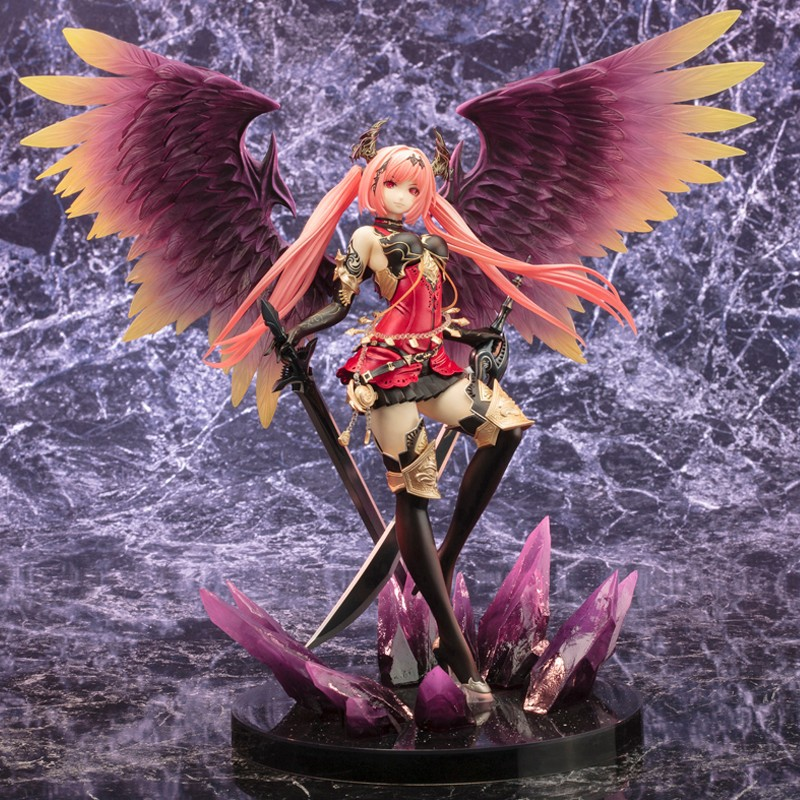New High Quality Discoloration Kotobukiya Rage Of Bahamut Dark Angel Olivia Ani Statue Action Figure Toy 29CM PVC No box loose wl toys 6ch rc helicopter wl xk k110 k123 k124 x350 remote control transmitter spare parts backup parts