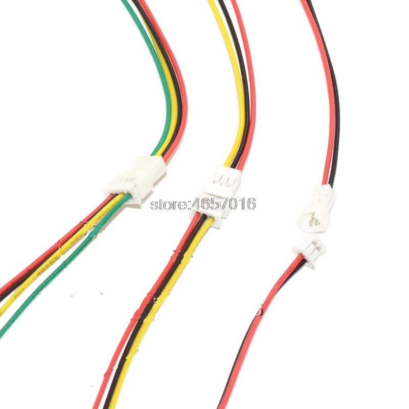 20 Sets/Lot Connector <font><b>Micro</b></font> <font><b>JST</b></font> <font><b>1.25MM</b></font> 2-Pin/3-Pin/4-Pin Male&Female Connector Plug with Wires Cables LED Strip Connectors image