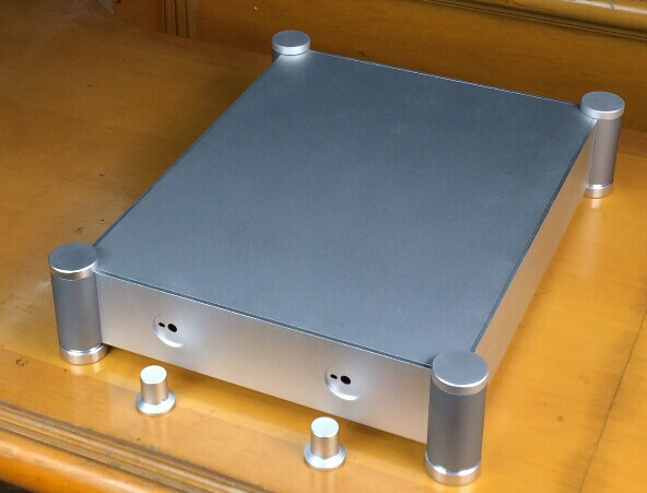 QUEENWAY BZ4307T New CNC full aluminum amplifier chassis/AMP case Enclosure/PSU Box DIY 342 mm*84mm*430mm  342 *84*430mm 3206 amplifier aluminum rounded chassis preamplifier dac amp case decoder tube amp enclosure box 320 76 250mm