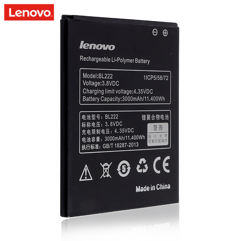 Original BL 222 BL222 Battery For Lenovo S660 S668T High Quality Mobile Phone Rechargeable Bateria