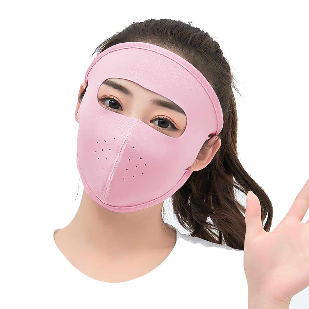 Giochi all'aperto per bambini Giocattoli Palla di seta del ghiaccio Fresco Traspirante maschera Outdoor Viso Sun UV di Protezione Ultra Sottile Protezione Solare maschera