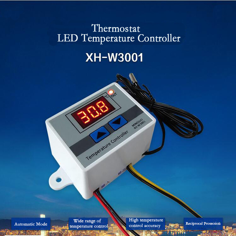 цены Digital LED Temperature Controller Thermostat Control Switch Max 10A 220V 1500W Intelligent Temperature Regulator with 1m Probe