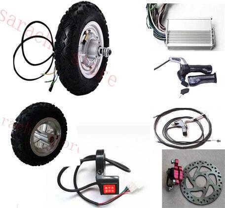 10 pouces 500 W 48 V roue avant hub moteur, électrique scooter moteur kit, planche à roulettes électrique moteur