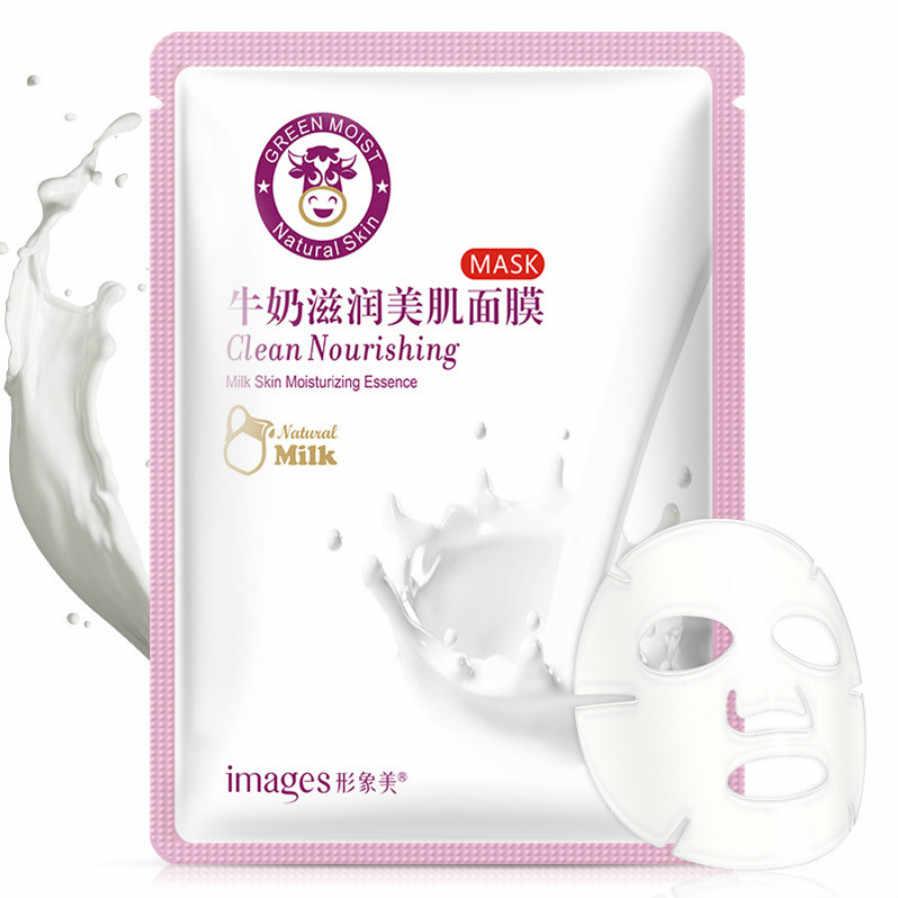 1 Pcs Pelle di Maiale Yogurt Idratante Maschera La Cura Della Pelle Pianta Maschera Per il Viso Idratante ControlBlackhead Rimozione Avvolto Maschera Viso Cura