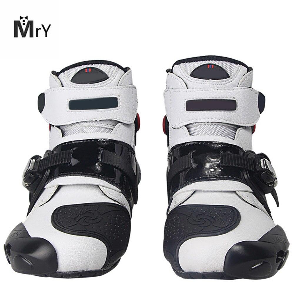 MAHAQI Moto bottes chaussures course vitesse Moto chaussures Moto botte équitation bottes cheville hommes cyclisme sport offre spéciale
