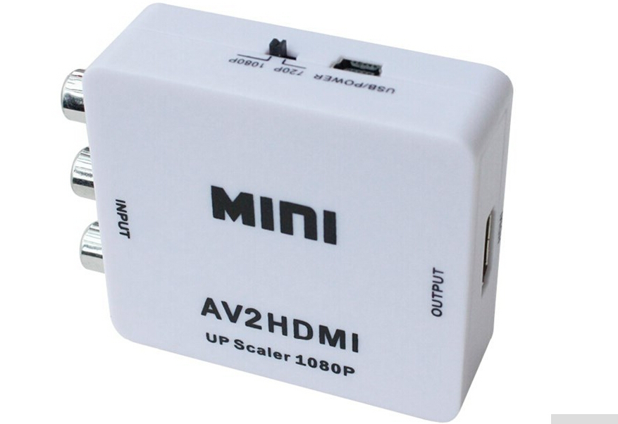 RCA to HDMI AV to HDMI 1080P AV2HDMI Mini AV to HDMI Converte Signal Converter for TV,VHS VCR,DVD Records Chipsets Shown AV2HDMI