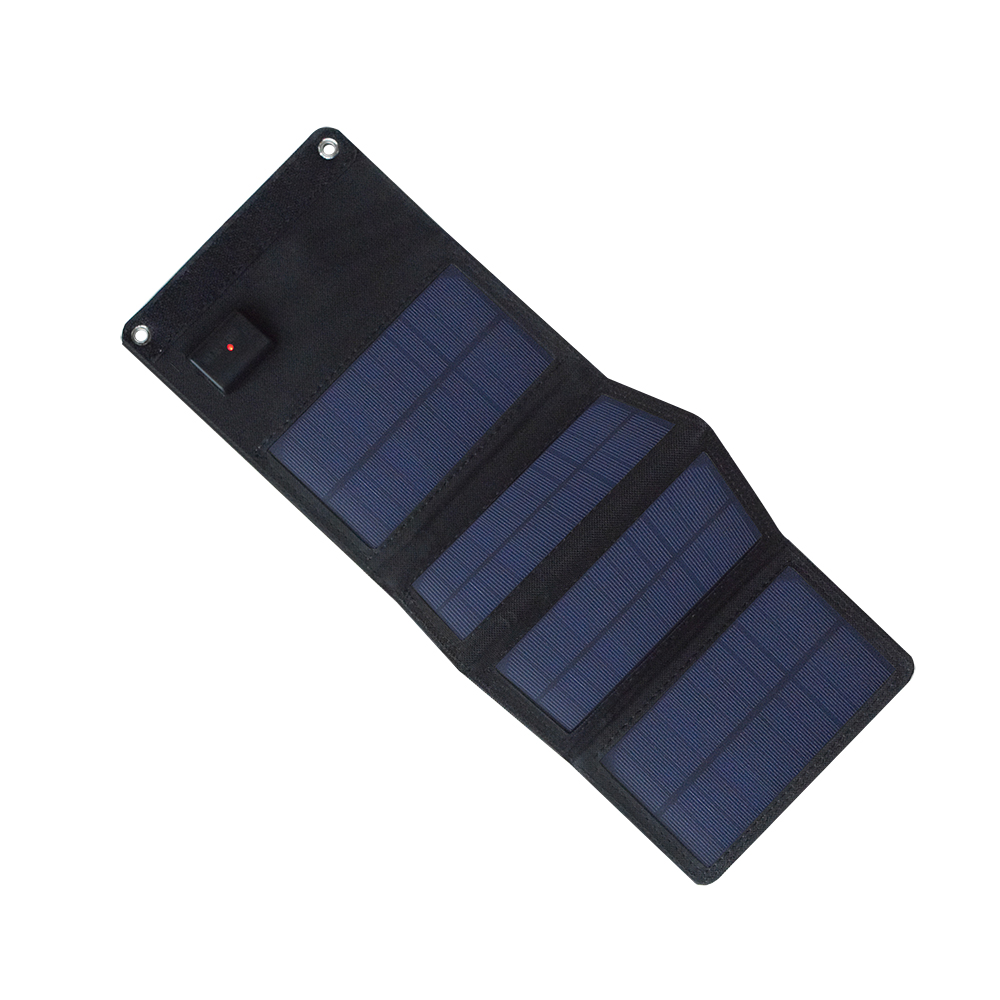 Xinpuguang 5.5V 7W foldable Solar Panel USB Charger Portable Powerbank 4 panels Fabric Battery Outdoor Charge Camp Mobile Phone