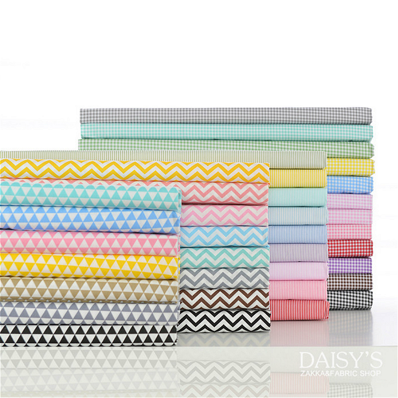 160x50cm 100% Twill Cotton Fabric Cloth Fargerike Lattice Spots Strip Wave Christmas DIY sengetøy, puter, mapper160g / m
