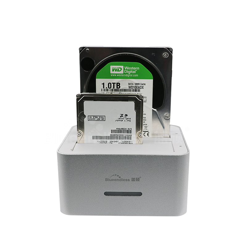 Dual 2-bay hdd docking station sata to USB 3.0 6TB per slot suit 2.5 3.5 HDD dock station with duplicator Clone function bs hd07u2 usb 2 0 esata to sata dual bay hdd docking station