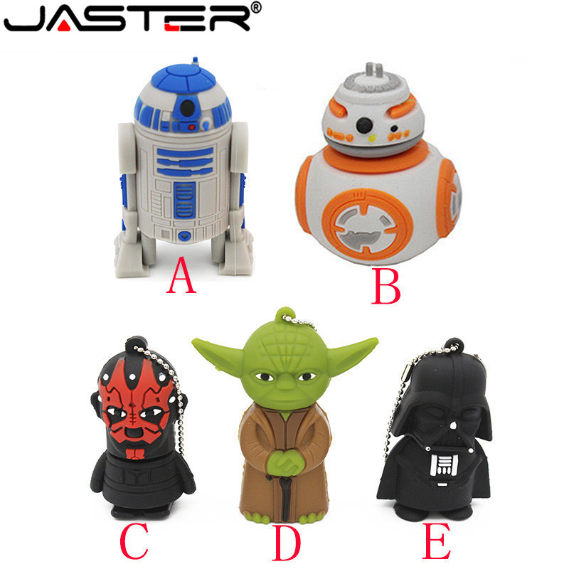 JASTER USB 2.0 Star Wars Creative R2D2 Robot Model 4GB 16GB 32GB 64GB  Flash Pen Drive Memory Disk 0Stick Usb Flash Drive