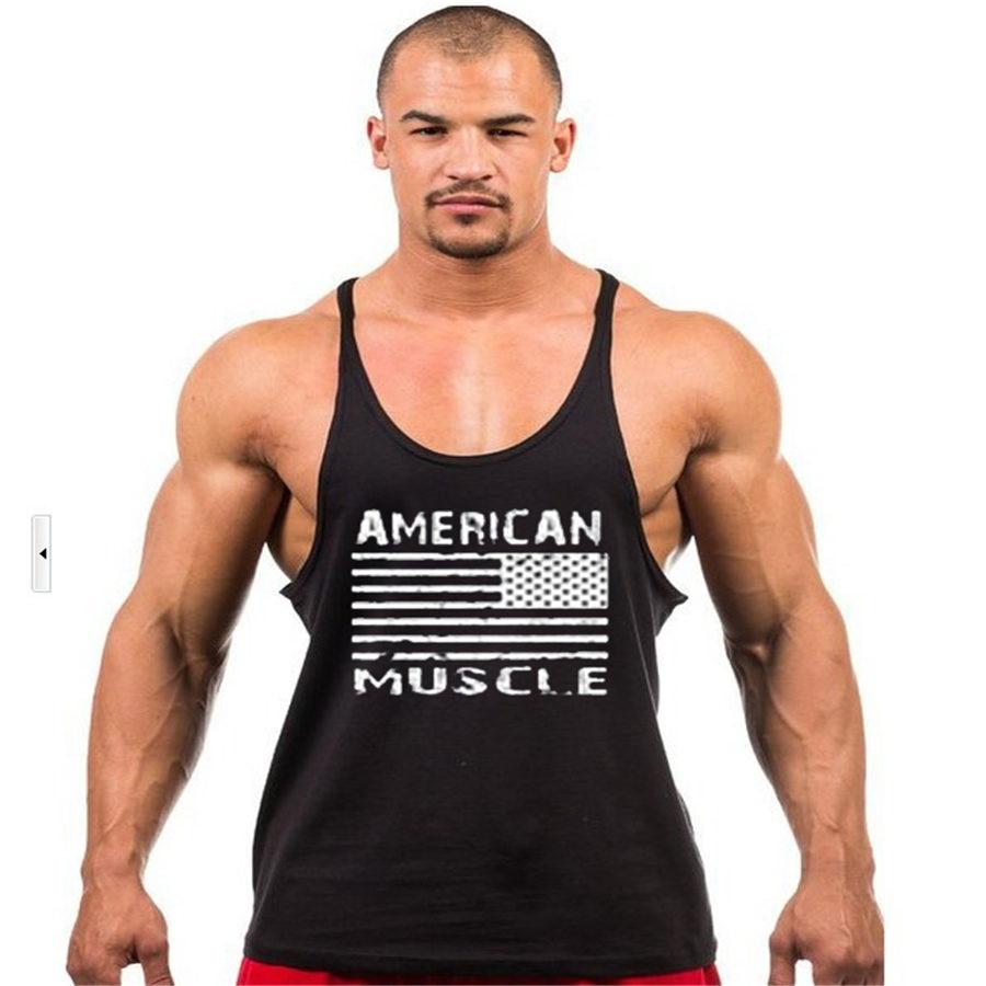 c0370c36382399 2018 Mens ClothingTank Top Thin Strap Fitness Men Body Bodybuilding  Stringer Singlets Suit T-shirt Cotton Boys Sleeveless Shirt