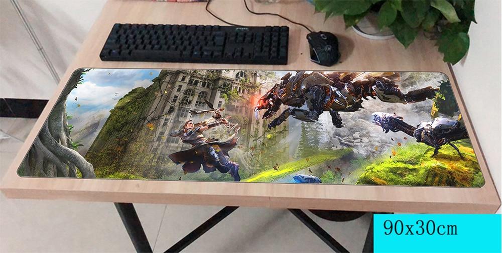 Horizon zero dawn mousepad gamer 900x300X3 MM gaming mouse pad di grandi dimensioni regali notebook accessori per pc del computer portatile padmouse ergonomico mat