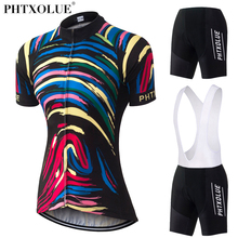 Phtxolue 2017 Summer Cycling Jerseys Women Cycling Clothings Short Set Mountain Bike Clothes Short Sleeve Jerseys Ropa Ciclismo pro fluorescent green short sleeve men s cycling jerseys set mountain bike clothes cycling clothing ropa ciclismo cycling kit