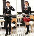 school uniform sets for boys and girls long-sleeve spring autumn and winter  lovers uniform small suit jacket