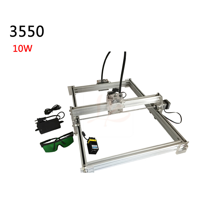 10000MW diy laser engraving machine 35*50cm metal marking cnc router for stainless steel wood etc 10w 15w diy cnc laser marking machine work area 14 20cm for stainless steel wood aluminum etc metal material