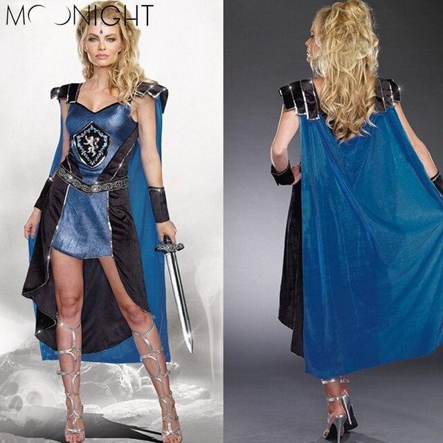 MOONIGHT Roman Greek Xena Gladiator Warrior Princess Roman Spartan Costume women sexy party cosplay halloween Costumes for women