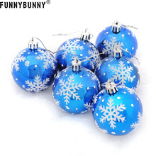 FUNNYBUNNY 6Pcs Christmas Tree SnowFlake Ball Bauble Hanging 6cm Ornaments Balls