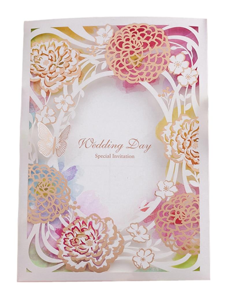 unids tarjeta de invitacin de boda de colores flores de la boda de