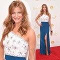 Emmy Awards Celebrity Dress Anna Gunn One Shoulder Side Slit Vestido De Noche Largo