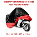 Size XL 245*105*125 cm Motorcycle Waterproof Scooter Cover UV resistant Heavy Racing Bike Indoor Outdoor Cover Black&Red D10