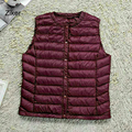 Ziker Brand Winter Women Down Vest Solid Slim Warm Down Vest Wear Inside Liner Down Coats