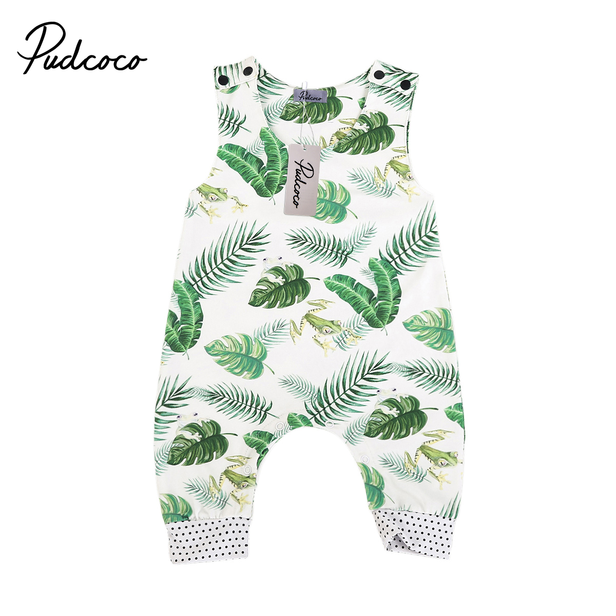 Pudcoco Newborn Kids Baby Boys Girls Sleeveless Floral Romper Playsuit Jumpsuit One-Pieces Outfits Set Clothes