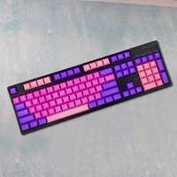 Couleur rose pourpre vierge mélangeant les Keycaps de PBT pour le mini clavier mécanique Dsa Keycaps Logitech Gamer Gh60 Keycool 84 Standard 104