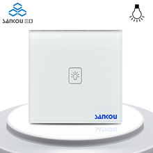 Smart Home Remote Dimmer Switch White Cryatal Glass Panel 1Gang Remote Light Lamps Wall Switches with Controller UK Standard цена в Москве и Питере